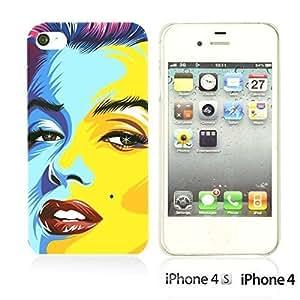 OnlineBestDigitalTM - Celebrity Star Hard Back Case for Apple iPhone 4S / Apple iPhone 4 - Marilyn Monroe Kimberly Kurzendoerfer