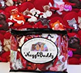 'NUGGLEBUDDY Microwavable Moist Heat & Aromatherapy Organic Rice Pack. Adorable MOVIE CATS Fabric with SWEET LAVENDER Aromatherapy. Give a Gift of Warmth & Comfort that Lasts Throughout the Year!