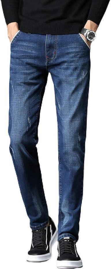 Jeans para Hombre Slim Fashion Plus Size Spring Estilo ...
