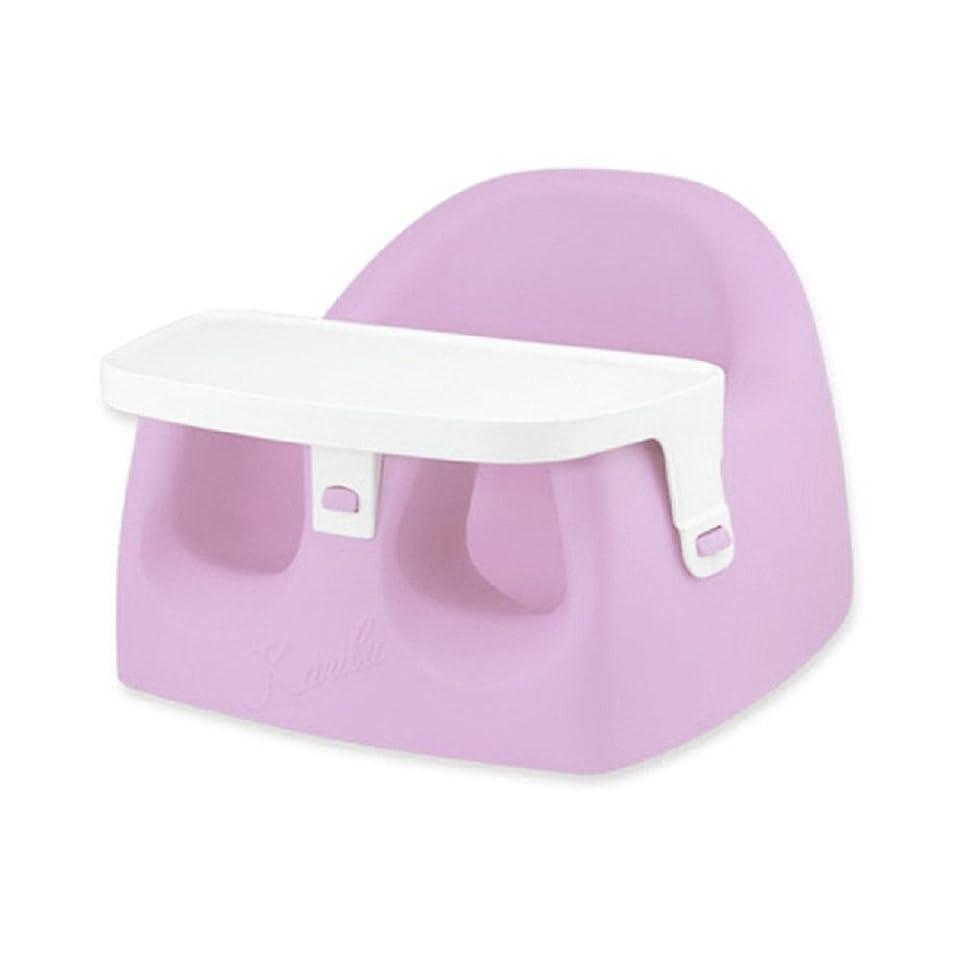 些細な使い込むスロープカリブ karibu ソフトチェアベビーチェア トレイ付き椅子 ピンク