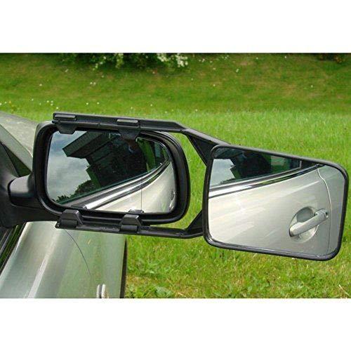 UKB4C Pair of Convex Caravan Car Extension Towing Mirrors fits Juke Qashqai X-Trail Navara Terrano Pathfinder