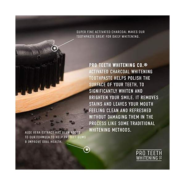 Pasta de dientes blanqueadora de carbón activado - Sabor a menta 100% derivado de forma natural - Refresca el aliento… 14