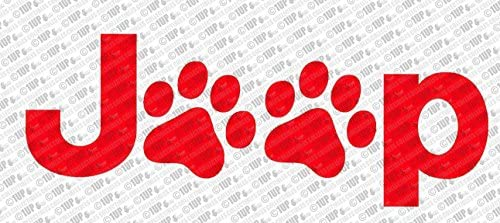 image regarding Decal Application Instructions Printable named Collectible Decals Jeep Pet dog Paw Print Brand Die Lower Vinyl Decal (6\