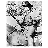 The Duke John Wayne in True Grit as Rooster Cogburn Black and White Holding Two Guns 8 x 10 Photo