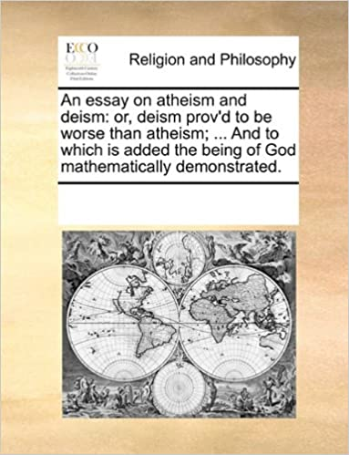 Examples Of Thesis Essays An Essay On Atheism And Deism Or Deism Provd To Be Worse Than Atheism   And To Which Is Added The Being Of God Mathematically Demonstrated In An Essay What Is A Thesis Statement also Synthesis Example Essay An Essay On Atheism And Deism Or Deism Provd To Be Worse Than  Argument Essay Thesis Statement