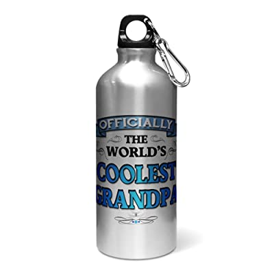 400 ml Officiellement The Worlds Cool PAPI Aluminium Sports Bouteille d'eau/gourde – Bleu