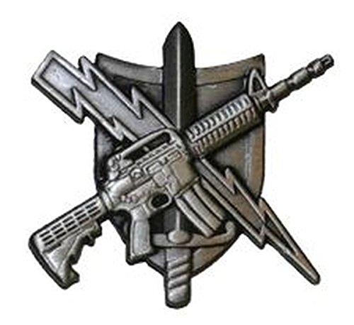 - UNIFORM INSIGNIA Tactical Patrol Officer Pin - Center Mass - Basic - Antique Silver