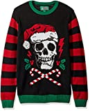 Ugly Christmas Sweater Mens Light-up-Santa Scull Sweater