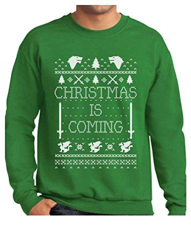 Christmas Sweater Ideas (TeeStars - Christmas Is Coming Ugly Christmas Sweater Sweatshirt XX-Large Green)