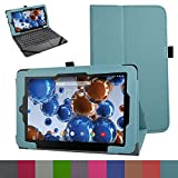 "RCA 10 Viking Pro 10.1 Case,Mama Mouth PU Leather Folio 2-folding Stand Cover with Stylus Holder for 10.1"" RCA 10 Viking Pro Tablet,Light Blue"