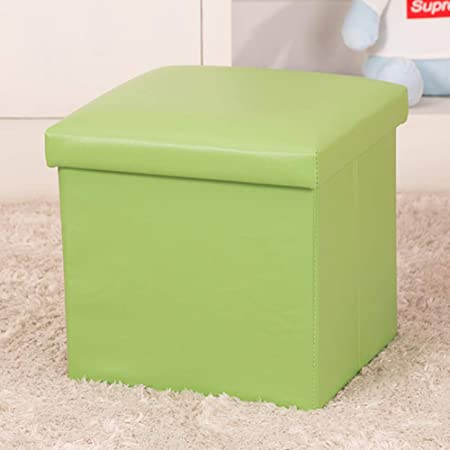 WEWE Plegable Organizador Caja Almacenamiento Otomano,Banco Taburete Reposapiés Mesa Cubo Camping Montaje Rápido Y Fácil-Verde 30x30x30cm(12x12x12): Amazon.es: Hogar