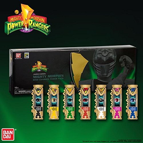 SDCC 2015 Exclusive Limited Edition Mighty Morphin Power Rangers Dino Charger Power Pack Plus the Bonus Megazord Dino Charger