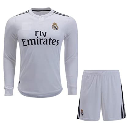 buy popular 0f92a 0cca7 aaDDa Realmadrid Home Full Sleeve Jersey with Shorts 2018-2019