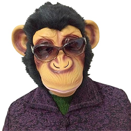 Novelty Latex Rubber Monkey Gorilla Head Mask Halloween Party Costume Decorations