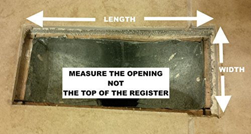 Floor Register Trap - Screen for Home Air Vents 4''x10'' by Floor Register Trap (Image #1)