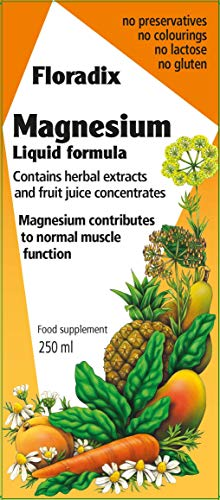 - Floradix Magnesium Liquid Supplement 8.5 Oz Small - Non-GMO, Vegetarian, Gluten-Free for Men & Women - by Salus Haus