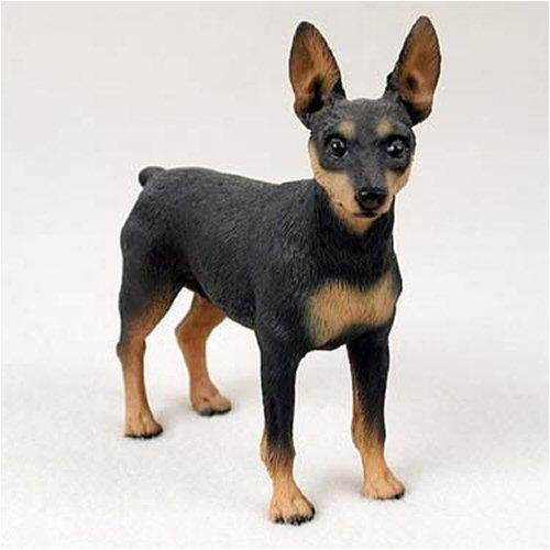 Miniature Pinscher, Black/Tan Original Dog Figurine (4in-5in) ()