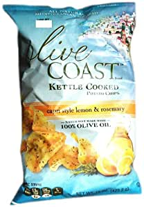 Olive Coast Kettle Cooked Potato Chips, 15 Ounce