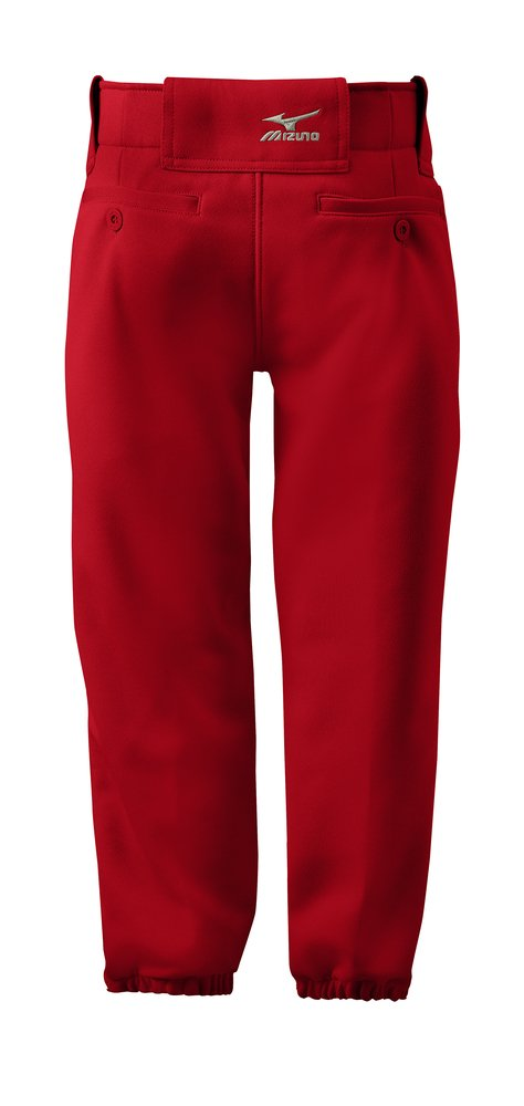 Mizuno Adult Women's Belted Low Rise Fastpitch Softball Pant, Red, Small by Mizuno (Image #3)