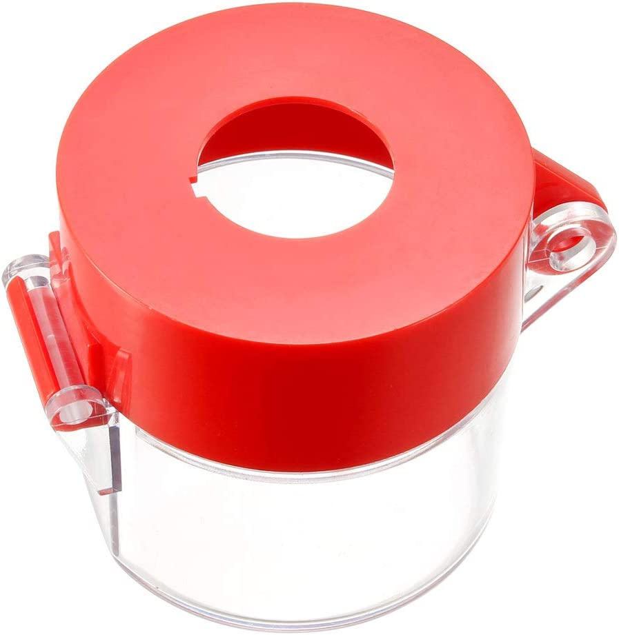 uxcell 2pcs Red Plastic Switch Cover Protector for 22mm Diameter Push Button Switch 5555