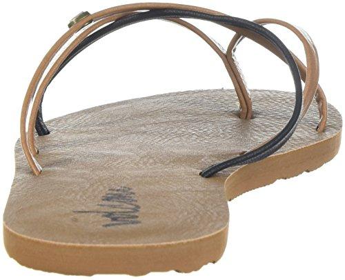 Femme Lo Combo Fi Tongs Sneaker Shoe brown Marron Schwarz Volcom Yqxzdq
