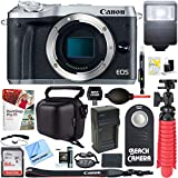 Cheap Canon EOS M6 24.2MP Mirrorless Digital Camera – Silver (Body Only) + 64GB Class 10 UHS-1 SDXC Memory Card + Accessory Bundle