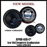 6 inch mid range speakers - (4) AUDIOPIPE APMB-6SB-C TWO PAIR 6-6.5