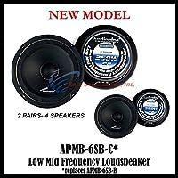 (4) AUDIOPIPE APMB-6SB-C TWO PAIR 6-6.5 SEALED BACK FULL RANGE LOUD SPEAKER MID