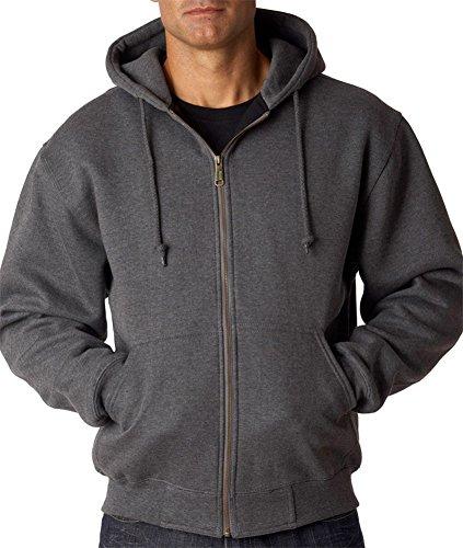 - Dri Duck Adult Crossfire Thermal-Lined Fleece Jacket, Dark Oxford (70/30), 3XL