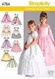 Simplicity Sewing Pattern 4764 Child Special Occasion Dresses, BB (5-6-7-8)