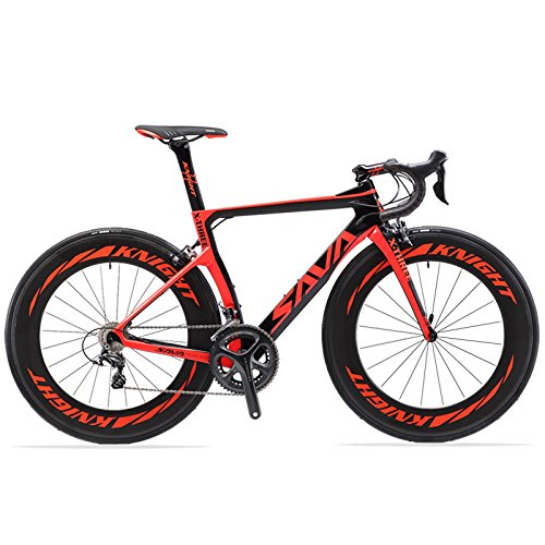 SAVADECK Phantom 2.0 700C Carbon Fiber Road Bike SHIMANO Ultegra 6800 22 Speed Group Set with HUTCHINSON 25C Tire and Fizik Saddle