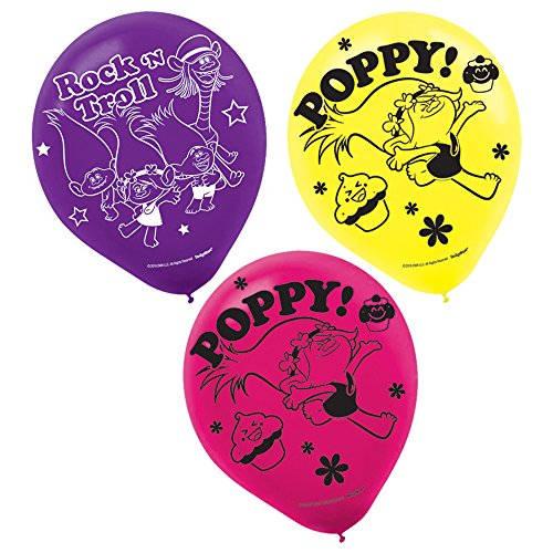 Amscan Latex Balloons | Trolls Collection | Party Accessory ()