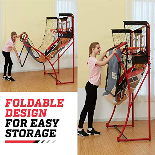ESPN EZ Fold 2 player Basketball Game with Polycarbonate Backboard and LED Scoring by ESPN (Image #3)