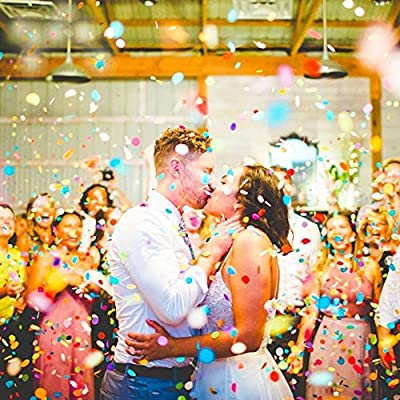 15000pcs Colorful Table Confetti 1 inch Premium Round Tissue Paper Bulk for Balloon, Wedding, Bridal Shower, Baby Shower, Holiday, Birthday, Unicorn Party Decoration, 5.3 oz: Toys & Games