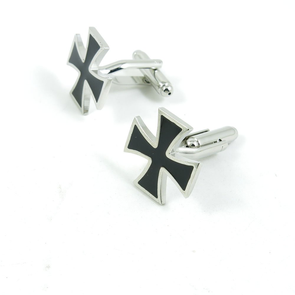 50 Pairs Cufflinks Cuff Links Fashion Mens Boys Jewelry Wedding Party Favors Gift RPL010 Black Cross