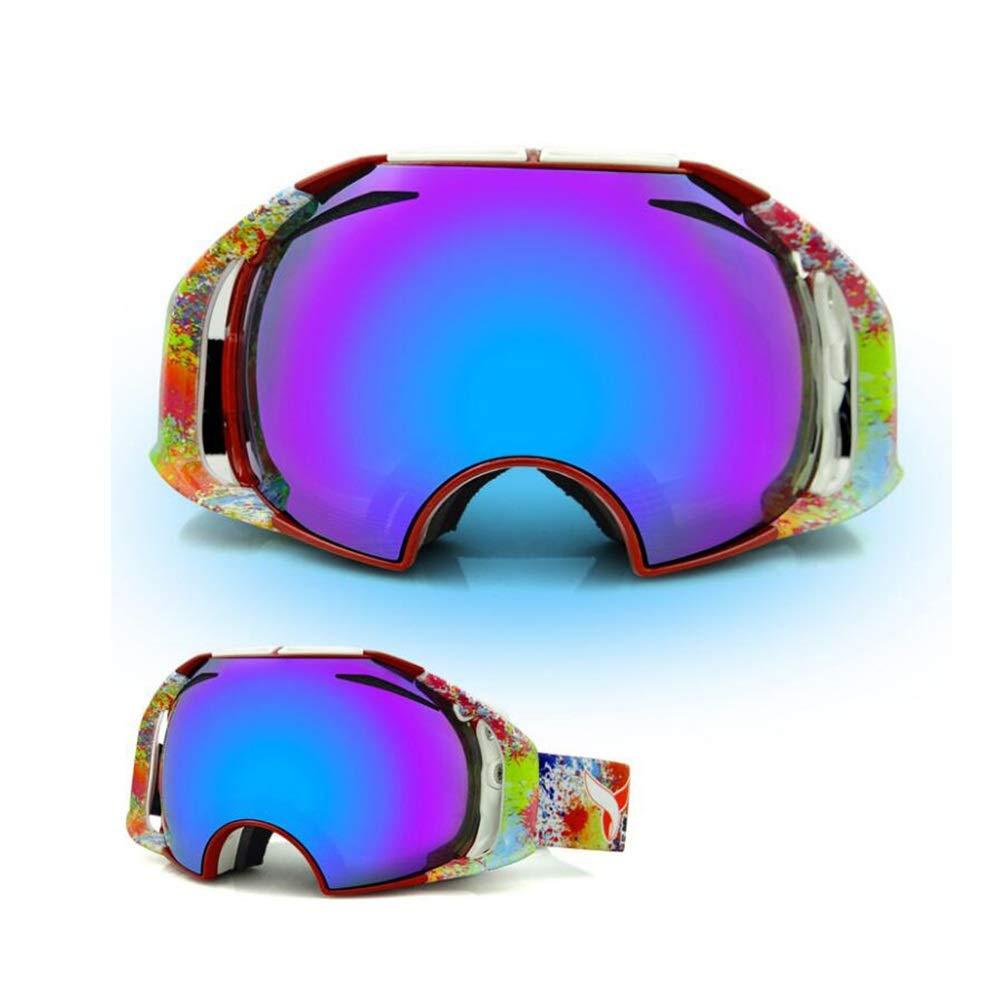 He-yanjing Ski Goggles for Men and Women,Anti-Fog Jet Snow Skiing Skis Goggles,Climbing Mirror,Jumper Mirror,Free Mirror,Fashion Outdoor Hiking ski Goggles (Color : D) by He-yanjing