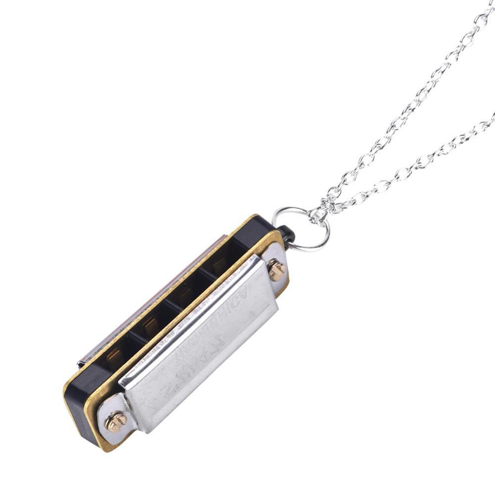 Dilwe Mini Arm/ónica Collar Clave de C 4 Agujeros 8 Tonos Arm/ónica /Órgano Bucal Port/átil para Ni/ños Principiante
