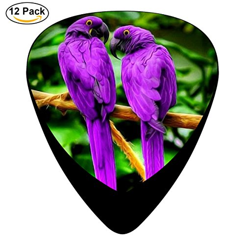 Guitar Picks Purple Bird 12-Pack Celluloid Plectrums for Guitar Bass (Five Nights At Freddys Guitar)