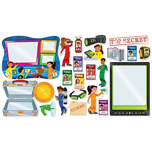 Scholastic Classroom Resources Super Secret Agents Bulletin Board (054565369X)