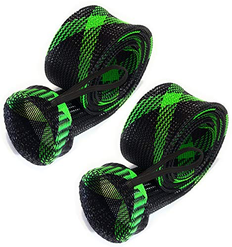 Cheap Reaction Tackle Rod Sock Black/Green (Flat-Cast-5)
