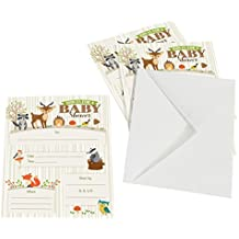 Lillian Rose 8-Piece Woodland Baby Shower Invitations...