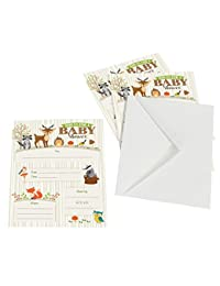 Lillian Rose 8-Piece Woodland Baby Shower Invitations, Neutral, 5