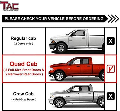 2003-2009 Dodge Ram 2500//3500 Quad Cab Pickup Truck 4 Oval Tube Stainless Steel Side Bars Nerf Bars 2 Pieces TAC Side Steps Running Boards Compatible with 2002-2008 Dodge Ram 1500 Quad Cab
