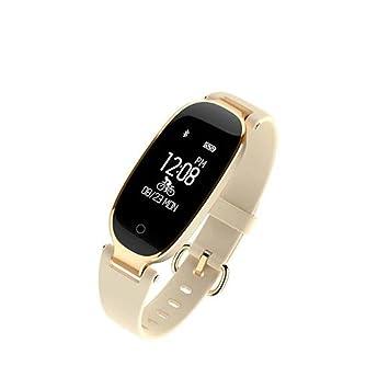 kuwfi Smart reloj inteligente banda pulsera niña mujer Monitor de frecuencia cardiaca muñeca SmartBand para Lady hembra Fitness Tracker pulsera, ...