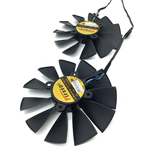 2 Pcs/lot 94mm DC 12V 0.5A Video Card Dual Fan for ASUS STRIX R9 380/370X GTX980/970 T129215SU FD10015H12S Graphics Card Fan