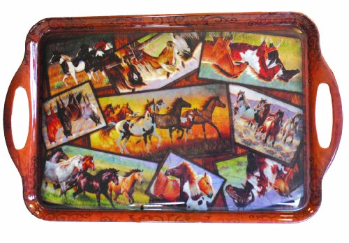 Motorhead Products Horse Collage Serving Tray ()