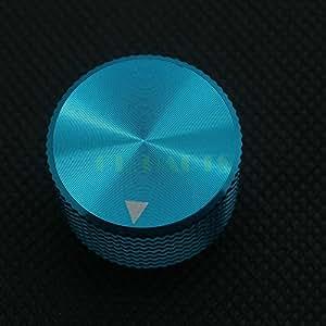 ARBUYSHOP 2PC 25 * 15.50mm azul a máquina sólido Perilla de aluminio FR altavoz de radio amplificador de guitarra DAC