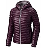 Mountain Hardwear Womens Ghost Whisperer Insulated Down Water Repellant Jacket with Hood - Dark Tannin - XS