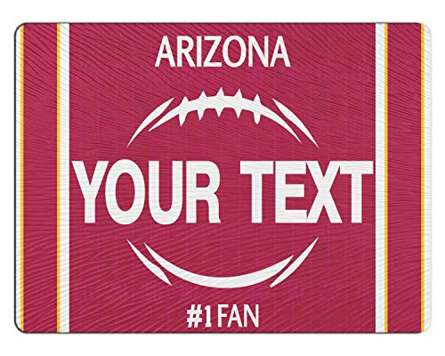 BRGiftShop Personalize Your Own Football Team Arizona 11x15 Glass Cutting ()