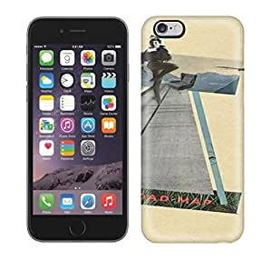 Best Power(Tm) HD Colorful Painted Watercolor Heres Where Fun Beging Road Map Sammy Slabbinck Retro Nostalgic Collage Design Hard Phone Case For Iphone 6 Plus